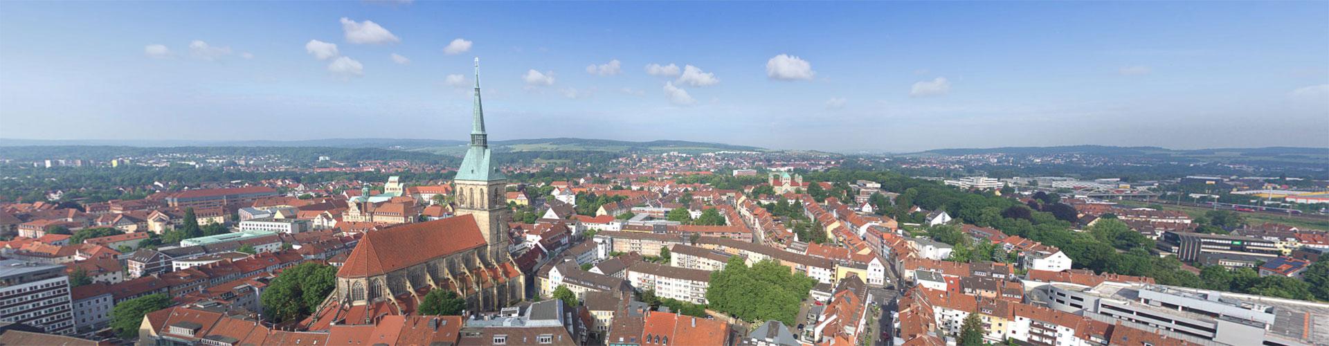Panorama über Hildesheim